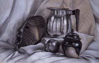 Dung Nguyen; Vegan Breakfast, 2001, Original Drawing Other, 18 x 24 inches. Artwork description: 241 Black and white conte crayons...