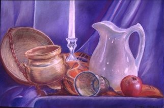 Dung Nguyen; Vegan Supper, 2002, Original Pastel, 24 x 18 inches.