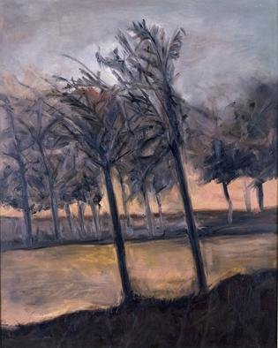 Domingo Garcia; Los Pinos, 1954, Original Painting Oil, 30 x 40 inches. Artwork description: 241 oil on wood...