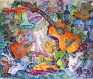 Taly Berestov; Echo, 2009, Original Painting Oil, 90 x 75 cm. Artwork description: 241  Memories, soil music,sounds of the life around us.  ...