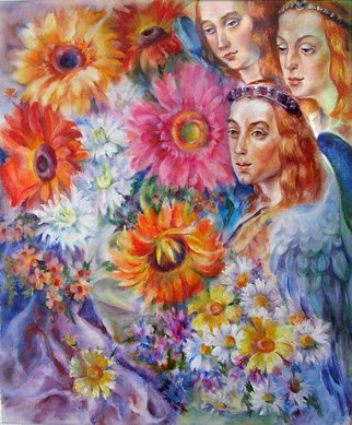 Taly Berestov; The World Dvine Spring, 2010, Original Painting Oil, 50 x 60 cm. Artwork description: 241   Beautiful life around us, spring, angels, flowers,inveiglement     ...