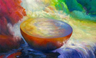 John Domont; Begging Bowl 56, 2007, Original Painting Oil, 120 x 72 inches. Artwork description: 241  Commission piece for Community Hospital North, Indianapolis, IN. Prints available.  ...