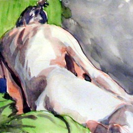 Donna Gallant, , , Original Watercolor, size_width{Back_View-1265411040.jpg} X 9 inches