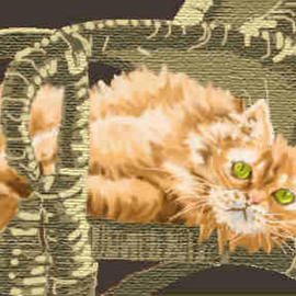 Donna Gallant, , , Original Computer Art, size_width{Chair_Cat-1047144877.jpg} X 9 inches