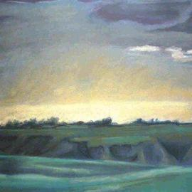 Donna Gallant, , , Original Pastel, size_width{Dusk_over_the_Coulees-1118764491.jpg} X 19 inches