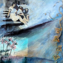 Donna Gallant, , , Original Mixed Media, size_width{Ivy_League-1265409768.jpg} X 10 inches
