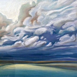 Donna Gallant, , , Original Pastel, size_width{Moving_Spring_Sky-1316272940.jpg} X 19 inches