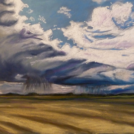 Donna Gallant, , , Original Pastel, size_width{Moving_rain-1316272857.jpg} X 19 inches