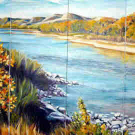 Donna Gallant, , , Original Painting Oil, size_width{Old_Man_River-1327591270.jpg} X 40 inches