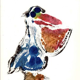 Donna Gallant, , , Original Printmaking Monoprint, size_width{Pelican-1453045095.jpg} X 10 inches