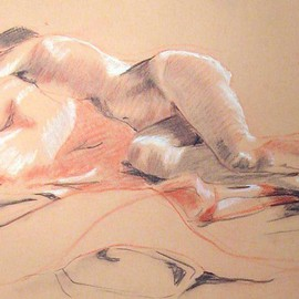 Donna Gallant, , , Original Pastel, size_width{Reclining_Woman-1235009555.jpg} X 13 inches