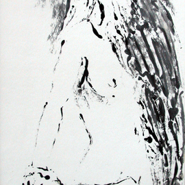 Donna Gallant, , , Original Printmaking Monoprint, size_width{Turning_1-1265411773.jpg} X 12 inches