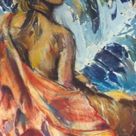 Donna Gallant, , , Original Mixed Media, size_width{Woman_of_the_Sea-992705691.jpg} X 16 inches