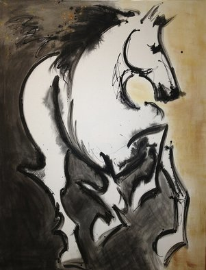 Donna Bernstein; Into The Light, 2012, Original Mixed Media, 36 x 48 inches. Artwork description: 241 horse, horses, equine, animals, mustangs, designer, interiors, equine, horses, abstract, original, mixed media acrylic, gallery wrapped, contemporary, modern, urban, ...
