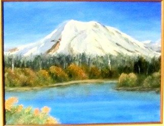 Donna Drickey; Mt Lassen Manzanita Lake Ca, 2015, Original Painting Acrylic, 11 x 14 inches. Artwork description: 241 My love of mountains and lakes - especially those here in Northern California - are an inspiration for many of my works. Mt. Lassen rises above the town of Chester and its status as a National Park offers a variety of experiences. Manzanita Lake is on the far northern ...