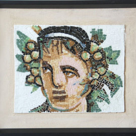 Jerry Reynolds, , , Original Mosaic, size_width{Bacchus_Roman_God_of_Wine-1428956948.jpg} X 13.5 inches