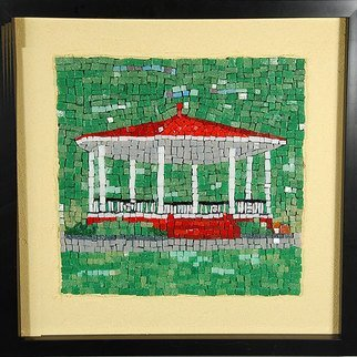 Jerry Reynolds; Band Shell Mosaic, 2015, Original Mosaic, 12 x 12 inches. Artwork description: 241         Mosaics are all one of a kind hand made to order. Each mosaic is an authentic piece of art unique to itself. No two mosaics are ever alike.             ...