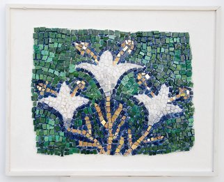 Jerry Reynolds; Lilies, 2011, Original Mosaic, 15.5 x 12.5 inches. Artwork description: 241    Mosaics are all one of a kind hand made to order. Each mosaic is an authentic piece of art unique to itself. No two mosaics are ever alike.    ...