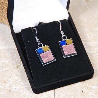 Jerry Reynolds, Mosaic Earrings, 2015, Original Mosaic,    inches