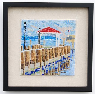 Jerry Reynolds; Northport Dock, 2011, Original Mosaic, 12 x 12 inches. Artwork description: 241  Mosaics are all one of a kind hand made to order. Each mosaic is an authentic piece of art unique to itself. No two mosaics are ever alike.  ...