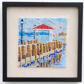 Jerry Reynolds, , , Original Mosaic, size_width{Northport_Dock-1311017254.jpg} X 12 inches