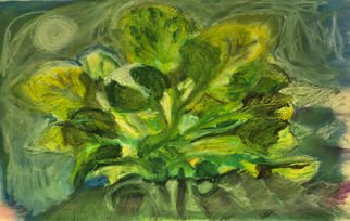 Don Schaeffer; Houseplant, 2011, Original Pastel Oil, 12.5 x 13 inches. Artwork description: 241   painting from a photograph       ...
