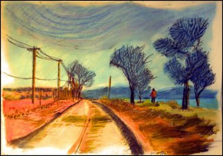 Don Schaeffer; The Causway, 2011, Original Pastel Oil, 11.5 x 16 inches. Artwork description: 241    painting from a photograph        ...