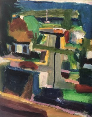 Bob Dornberg; Hospital View, 2020, Original Painting Oil, 16 x 20 inches. Artwork description: 241 VIEW FROM ROOM...