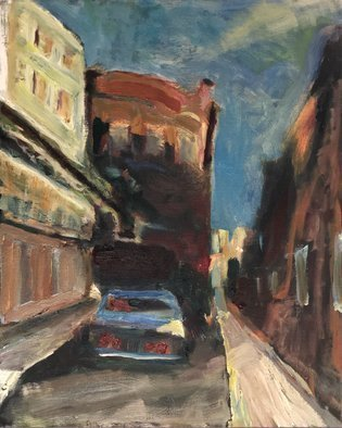 Bob Dornberg; Parked Car, 2020, Original Painting Oil, 16 x 20 inches. Artwork description: 241 PARKED CAR IN BALTIMORE...