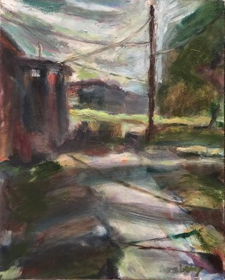 Bob Dornberg; Pathway, 2020, Original Painting Oil, 16 x 20 inches. Artwork description: 241 pathway to houses...
