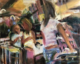 Bob Dornberg; Tn4 Super Market, 2019, Original Painting Oil, 20 x 16 inches. Artwork description: 241 Abstraction, Representational, Expression of people shopping...