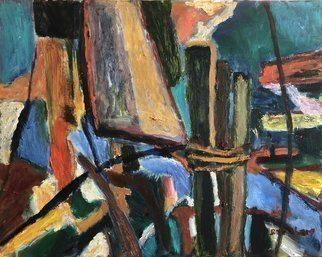 Bob Dornberg; Wharf, 2020, Original Painting Oil, 20 x 16 inches. Artwork description: 241 DOCKING AREA...