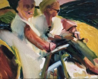 Bob Dornberg; Women Talking, 2020, Original Painting Oil, 20 x 16 inches. Artwork description: 241 WOMEN ON PORCH TALKING...