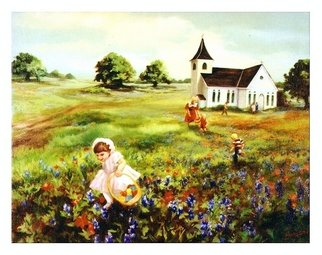 Dorothy Sitka; Easter Memories, 2008, Original Painting Oil, 36 x 24 inches.