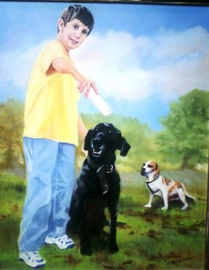 Dorothy Sitka; Kyle Portrait, 2006, Original Painting Oil, 30 x 40 inches.