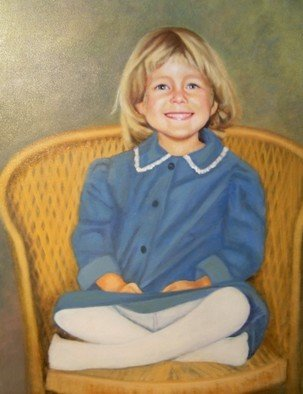Dorothy Sitka; Little Girl, 2008, Original Painting Oil, 22 x 24 inches. Artwork description: 241  Commisione Work ...