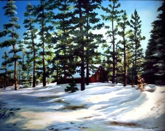 Dorothy Sitka; Tahoe Snow, 2006, Original Painting Oil, 36 x 24 inches.