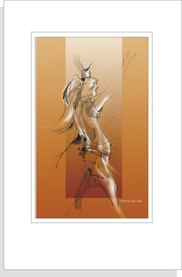 C. Doug Anderson; Ashley Gesture, 2013, Original Drawing Other, 11 x 14 inches. Artwork description: 241       High quality archival Glicee prints on Canvas $150. Original NFS. Female. Figure. Drawing. Shipped flat.               ...