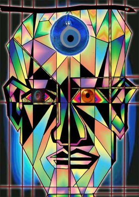 Charles Frederickson; Face2face, 2014, Original Digital Drawing,   inches.