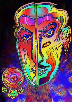 Charles Frederickson; Shattered Image, 2014, Original Digital Drawing,   inches. Artwork description: 241     faceoff    ...