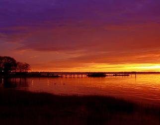 Emily Reed; Sunrise In The Park, 2006, Original Photography Color, 6 x 4 inches. Artwork description: 241 A view of a sunrise overlooking the dock in Battery Park, New Castle, DE...