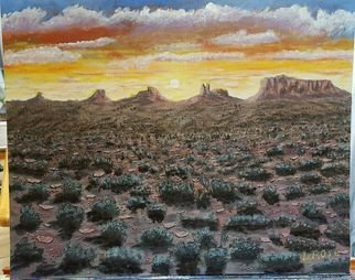 Daniel Rose; New Mexico Sunrise, 2018, Original Painting Acrylic, 24 x 16 inches. Artwork description: 241 this is a memory from my visit to New Mexico...
