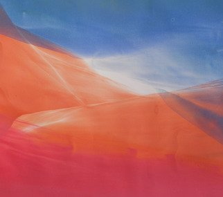 David Rycroft; Silken Breeze, 2007, Original Painting Oil, 44 x 38 cm. Artwork description: 241  Fresh, abstract composition inspired by the dynamic power and pristine beauty of nature. ...