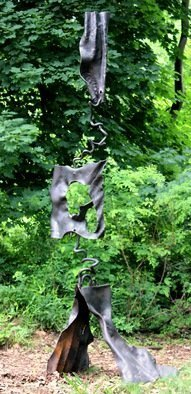 Daniel Lombardo; The Effect Of What I Have Seen, 2015, Original Sculpture Steel, 40 x 120 inches. Artwork description: 241            sculpture    abstract  forged steel              ...
