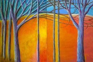 Darrell Ross; Abstract Trees, 2018, Original Pastel, 16 x 12 inches. Artwork description: 241 A teo panel pastel drawing of my abstract tree. ...