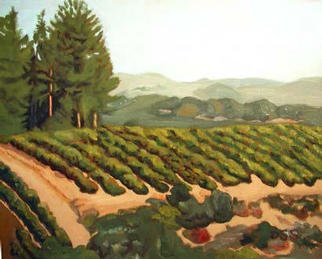 Donna Schaffer; Hilltop Vineyard, 2002, Original Painting Oil, 20 x 16 inches. Artwork description: 241 This vineyard is just up the hill from my kitchen window. Henry is a 3rd generation grape grower who sells his Zinfandel to major wineries each year. I want to try and paint this same vineyard in all it' s season. Shown here is summer. ...