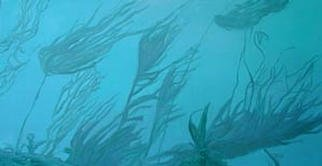 Donna Schaffer; Sea Surge In The Kelp Forest, 2002, Original Painting Oil, 48 x 24 inches. Artwork description: 241 Oil Painting of a scene in Monterey Bay, California of a Kelp Forest in a strong current. Based on the artist' s personal experiences and photography. ...