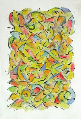 Billy Bob Warren; Views From Cerra Del Muerte, 2009, Original Watercolor, 13 x 19 inches. Artwork description: 241  From My New Series:Overlooking the Underground. . . . Tales from Costa Rica  2008/ 2009. . . . All Are Schmincke Watercolors on Fabriano Paper. . Using Rainwater Collected in the Jungle ...