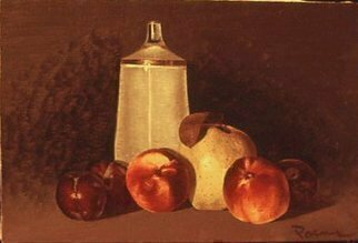Lou Posner, Fruit with Schissel, 1972, Original Painting Oil,    inches