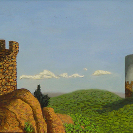 Lou Posner, , , Original Painting Oil, size_width{Meriden_Turret-1503610465.jpg} X 10 inches